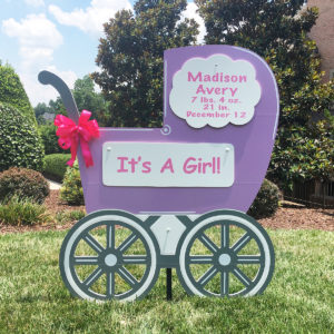 lavender baby girl carriage